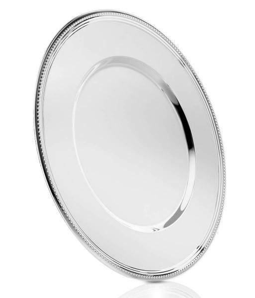 Zilverstad Platzteller Perlrand versilbert H 1,3 cm Ø 33 cm - Art.-Nr. 7838230