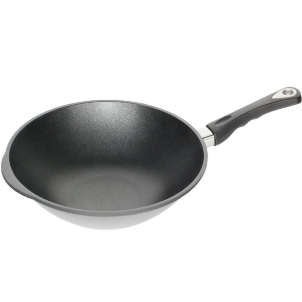 amt gro er wok aluguss antihaftbeschichtet 32 cm mit stiel mm comsale. Black Bedroom Furniture Sets. Home Design Ideas