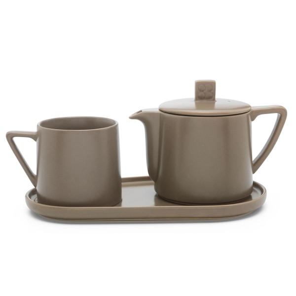 Bredemeijer Teekannen Set inkl. Teebecher & Tablett 500 ml Lund 3-teilig - Art.-Nr. 142000