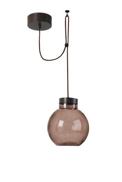 LED Pendelleuchte Raw Ø 230 mm dunkelbraun