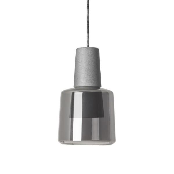 LED Pendelleuchte Khoi Ø 148 mm betongrau