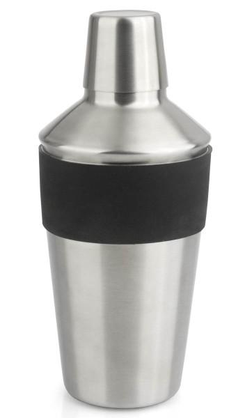 Leopold Vienna Cocktail Shaker Black Edition Edelstahl & Silikon schwarz 500 ml - Art.-Nr. LV01130