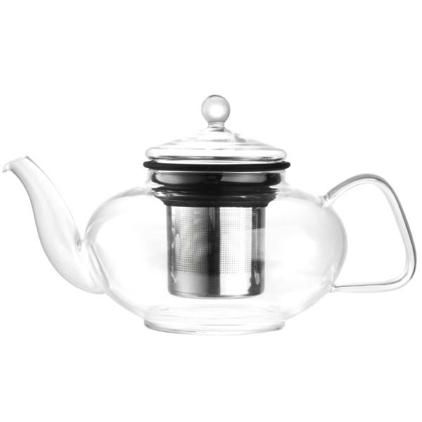 Bredemeijer kleine gläserne einwandige Teekanne 1.0 Liter mit Edelstahlfilter
