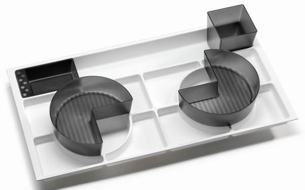 Fackelmann 89804 Ordnungssystem für Schubladen Kunststoff grau weiß 70 cm