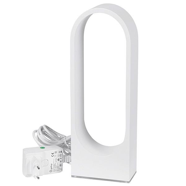 weiße dimmbare indirekte Touch LED Tischleuchte 30 cm