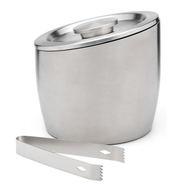 doppelwandiger Edelstahl Eiswürfelbehälter mit Deckel 2.5 Liter