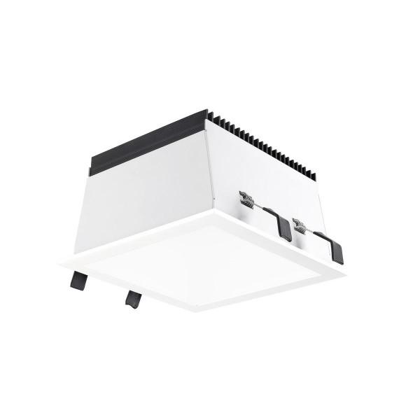 LED Einbauleuchte Equal S Ø 175 mm weiss