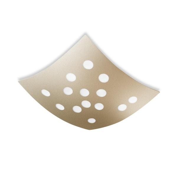 LED Deckenleuchte Wow Ø 500 mm gold lackiert