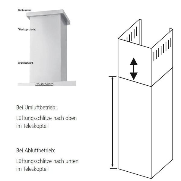 Oranier Schacht für Dunstabzugshauben Verlängerungsschacht Wandhauben 100 cm LGS
