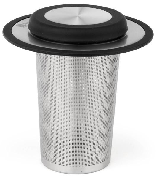 Bredemeijer Teefilter mit Ablage/Deckel XL schwarz Edelstahl Silicon - Art.-Nr. 1493