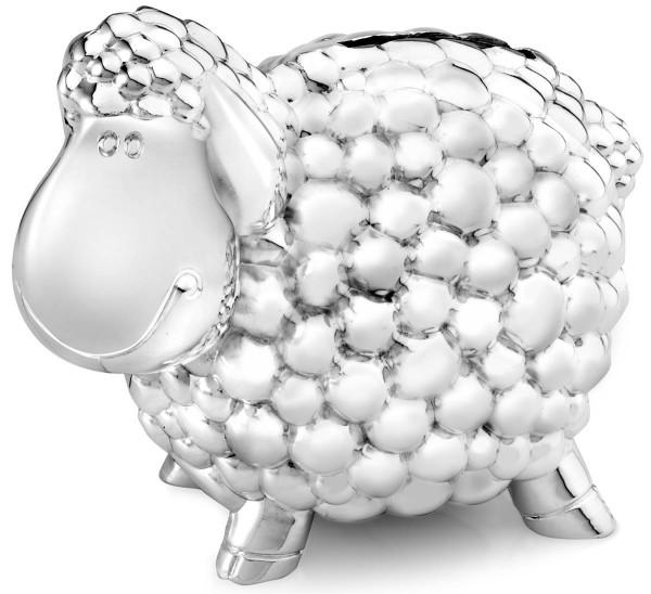 Zilverstad Spardose Schaf versilbert anlaufgeschützt L 11,5 cm B 8,5 cm H 7 cm - Art.-Nr. 6070261