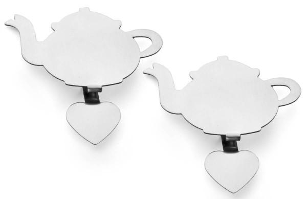 Bredemeijer Teebeutel-Clip Teapot Edelstahl 2er-Set - Art.-Nr. 47044