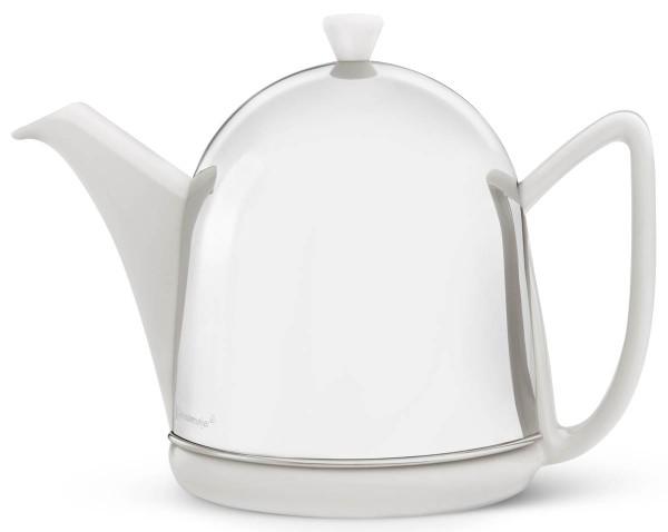 Bredemeijer Teekanne 1,0 L Cosy Manto Keramik Edelstahl doppelwandig - Art.-Nr. 1510W - Bild 1