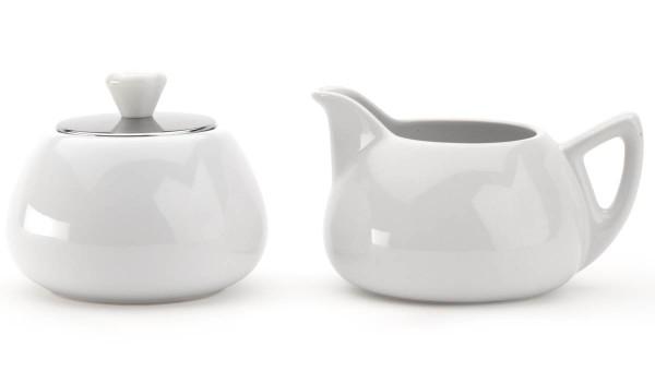 Bredemeijer Milch- & Zuckertopf Set Cosy Manto Keramik Edelstahl - Art.-Nr. 1530W