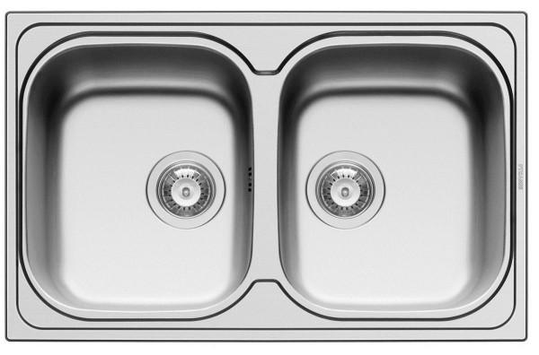 Pyramis Küchenspüle Amaltia 79 cm 2 Becken (Einbau)