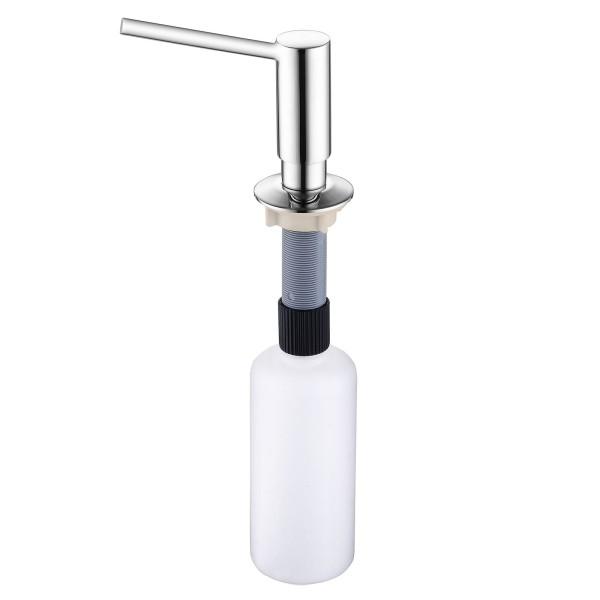 Edelstahl Einbau-Seifenspender 250 ml Kunststoffflasche
