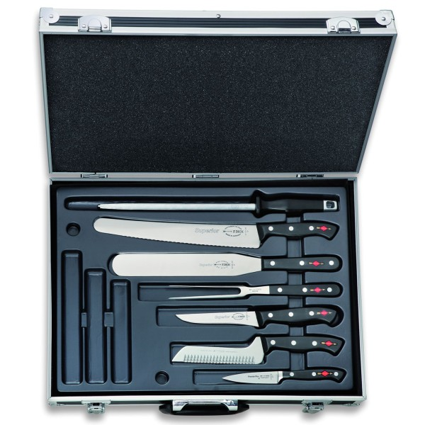 Dick großer bestückter abschließbarer Messer-Kochkoffer 12 teilig