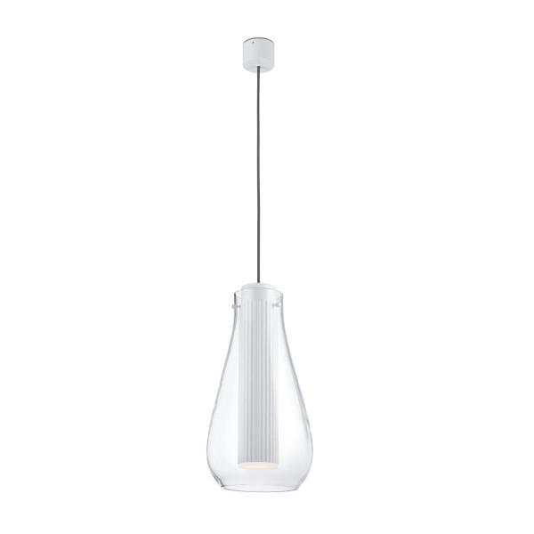 LED Pendelleuchte Rigatto Ø 205 mm matt weiss