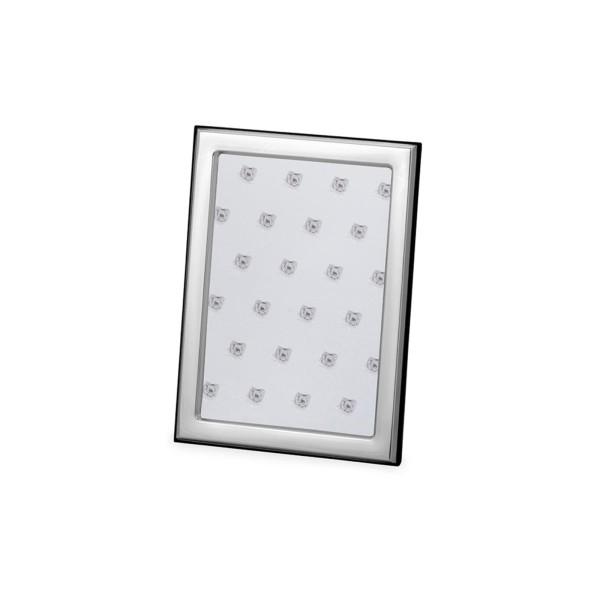 kleiner versilberter Fotorahmen 9 x 13 cm schmaler Rahmen glatt poliert - Art.-Nr. 30141ver