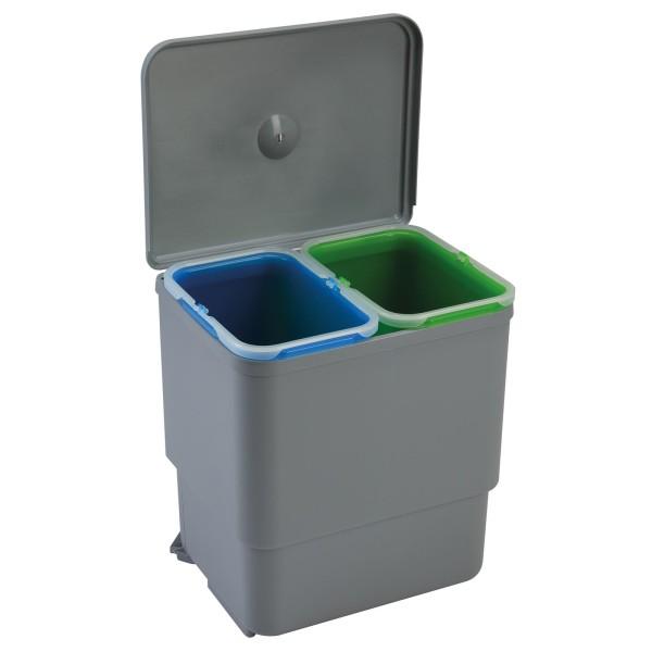 Einbau Abfallsammler 30 cm 2-fach Trennung Deckel-Automatik