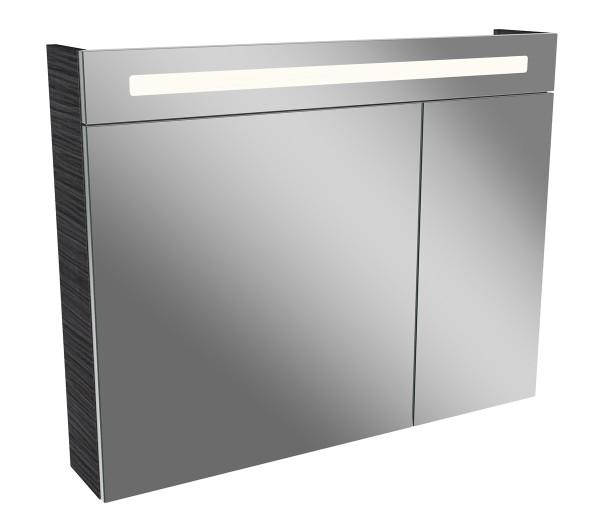 Fackelmann 80192 LED Spiegelschrank Lino 90 cm dunkle Eiche