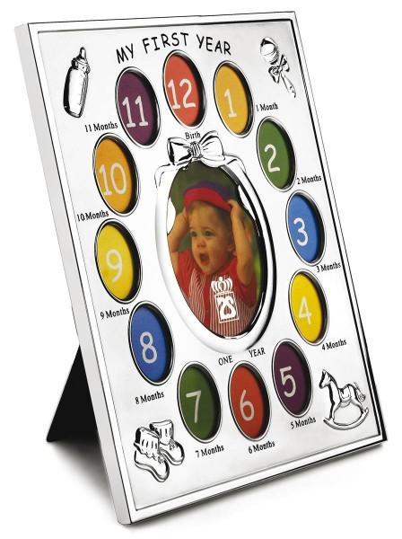 Zilverstad Bilderrahmen Baby für 13 Fotos versilbert anlaufgeschützt L 29 cm B 3 cm H 25 cm - Art.-Nr. 7612231