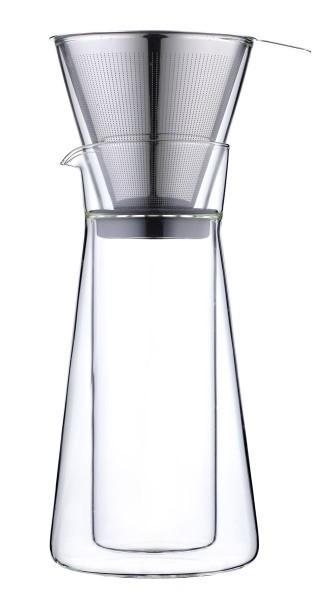 Leopold Vienna Kaffeebereiter Piazza doppelwandig Borosilikatglas 600 ml - Art.-Nr. LV117010