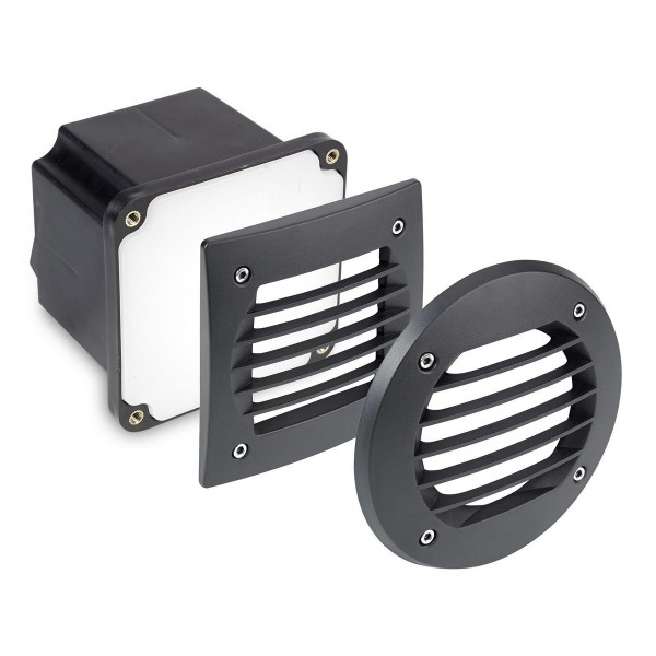 LED Wandeinbauleuchte Basic schwarz