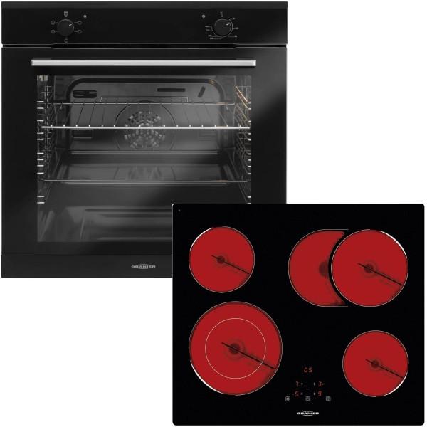 Oranier autarkes Einbau Backofen Set EBS 9911 mit Glaskeramikkochfeld 60 cm