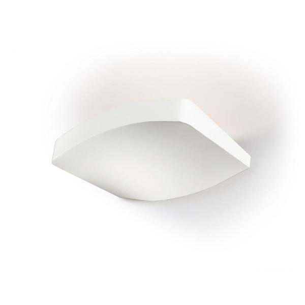 LED Wandleuchte Wave matt weiss