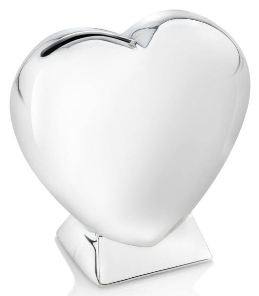 Zilverstad Spardose Herz auf Fuß versilbert anlaufgeschützt - Art.-Nr. 7280261