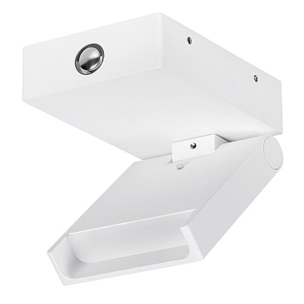 eckige weiße schwenkbare LED Innen Wandleuchte 11 cm einflammig