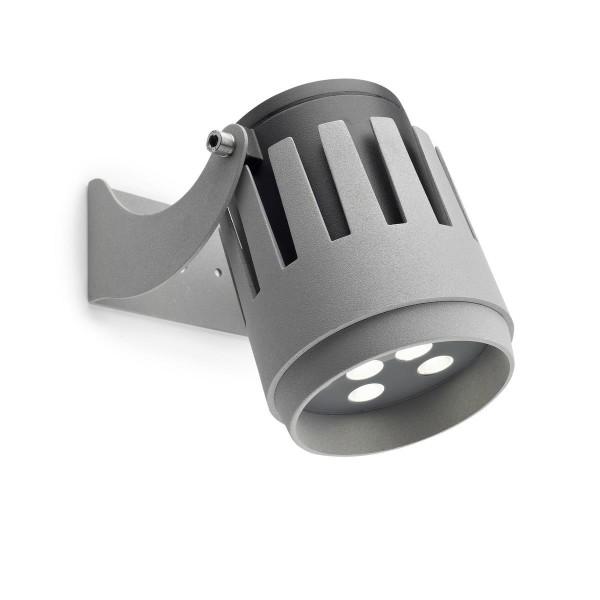 LED Strahler Powell Ø 110 mm grau