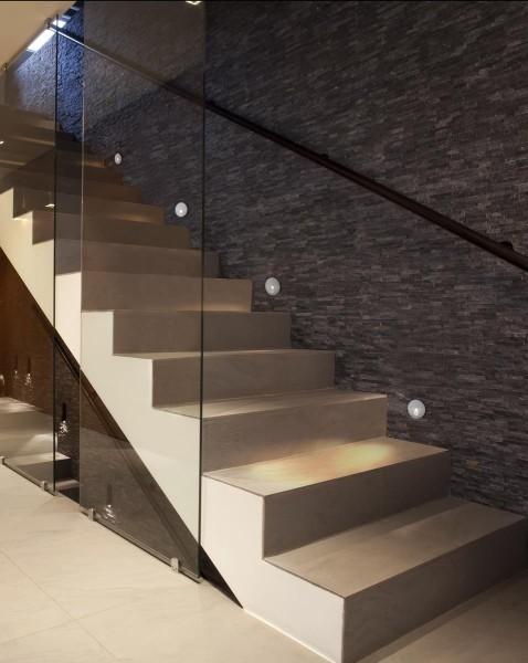 LED Wandleuchte Step Ø 65 mm grau