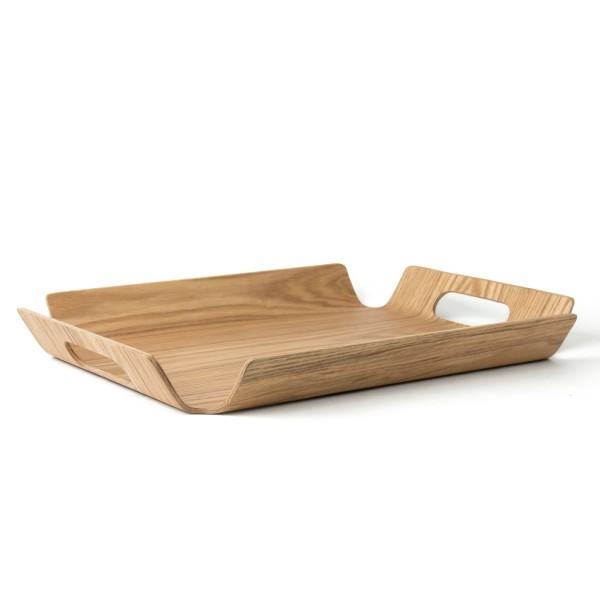 braunes rechteckiges Holztablett ca. 28 x 40 cm mit 2 Griffe