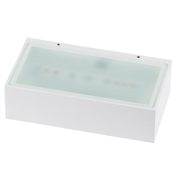 rechteckige graue dimmbare LED Innen Außen Wandleuchte 18 cm