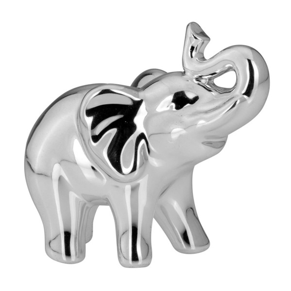 H.Bauer jun. Deko Elefant 8.8 x 5.2 cm glatt poliert Höhe 9 cm - Art.-Nr. 6270ver kleiner Porzellan