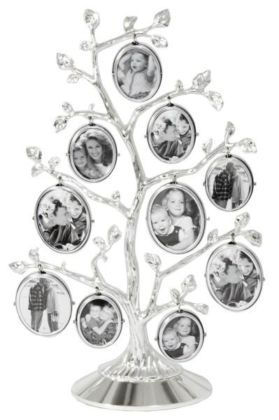 Zilverstad Stammbaum Fotoalbum für 10 Fotos versilbert anlaufgeschützt L 27 cm B 6 cm H 17,5 cm - Art.-Nr. 7703231