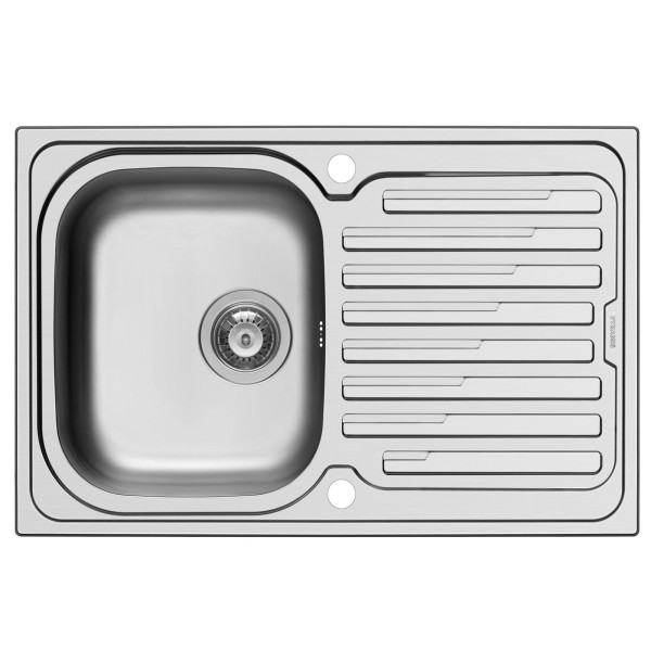 Pyramis Küchenspüle Amaltia 1 Becken 1D Edelstahl poliert