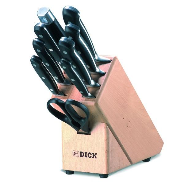 Dick 8807000 Premier Plus Messerblock aus Holz 9-teilig