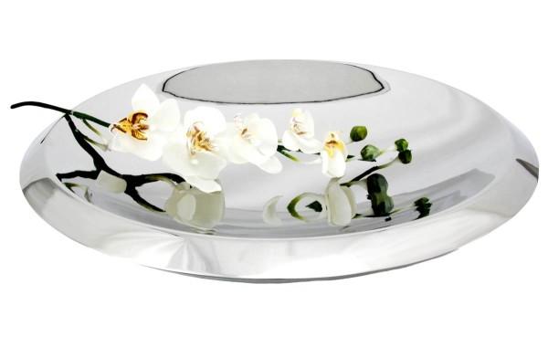 Zilverstad Dekoschale Lotus Edelstahl 18/10 doppelwandig hochglanzpoliert B 50 cm H 9,5 cm - Art.-Nr. 8704050