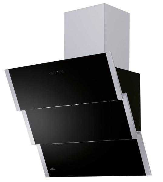 Oranier Kopffrei Wandhaube Lito Edelstahl Glas schwarz 60 cm