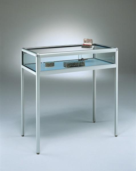Tischvitrine Glas für Schmuck abschließbar 100 cm breit  - Art.-Nr. BT120-ob