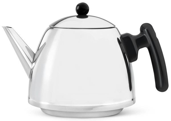 Bredemeijer Teekanne 1,2 L Duet Classic schwarz Edelstahl doppelwandig - Art.-Nr. 1310Z