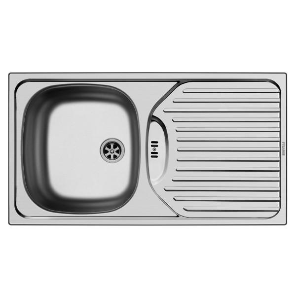 Pyramis Küchenspüle ET78 1 Becken 1 D Edelstal glatt