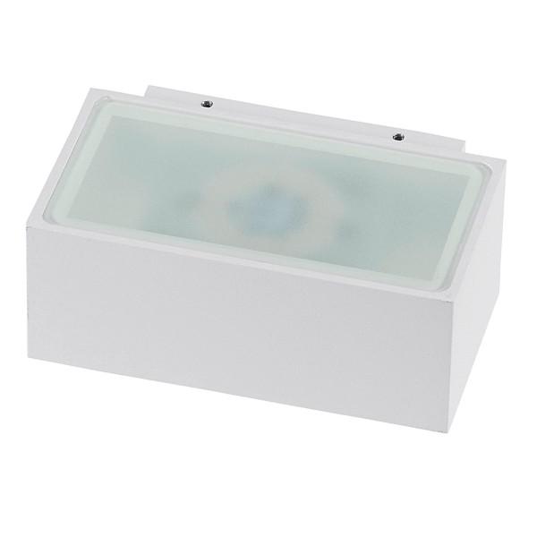 rechteckige weiße dimmbare LED Innen Außen Wandleuchte 13 cm