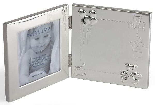 Zilverstad Bilderrahmen Happy Baby versilbert anlaufgeschützt L 9 cm H 9 cm - Art.-Nr. 8021231