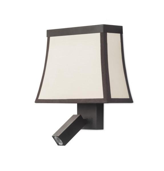 LED Wandleuchte Fancy dunkelbraun