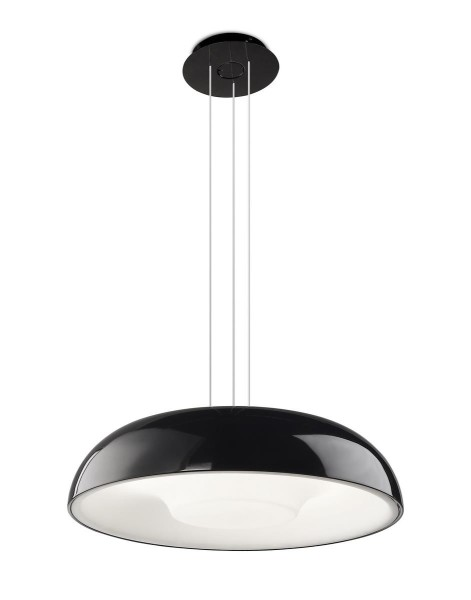 Pendelleuchte Tandem Ø 450 mm schwarz lackiert