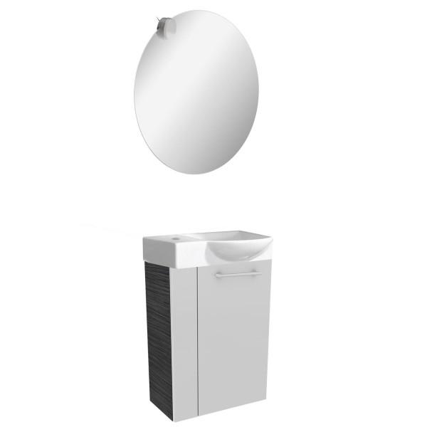 Fackelmann helles Gäste WC Badmöbel Set hängend 45 cm 4 tlg